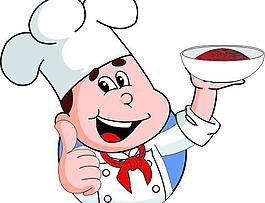 卡通厨师矢量图图片