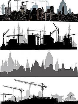 都市城市建筑剪影圖片