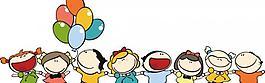 可爱卡通快乐手拉手儿童插画图片