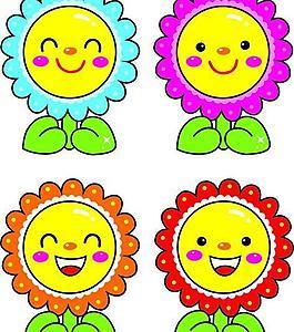 卡通可爱花朵图片
