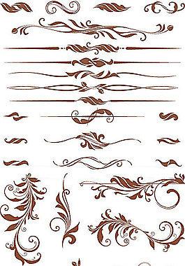 古典装饰花边纹样矢量素材