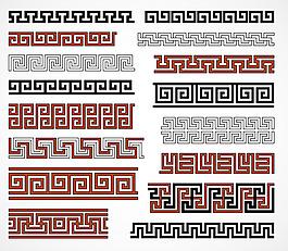 AI格式 古典花紋素材