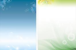 藍色展板背景 綠色圖片
