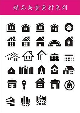 精品矢量素材-房子圖標