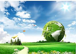 綠色環保海報背景