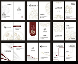 時尚花紋底紋免費名片模板設計