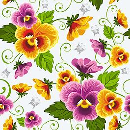 双色花朵花纹背景