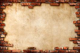 復古 墻磚 棕色 底圖 背景圖