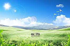 春天風景圖片 影樓背景墻下載