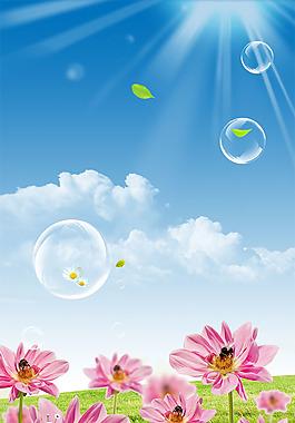 春天裝飾畫 春天花朵背景圖片