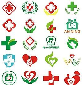 各种医院标志设计集合矢量素材