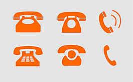 電話 形狀圖案 矢量圖