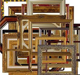 35个木质相框照片边框素材分层图片