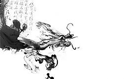 水墨中國龍圖片