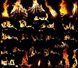 火焰分层素材图片
