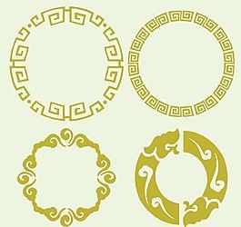 圓形古典圖案圖片