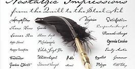 30款好看的羽毛筆寫出的英文字體下載圖片