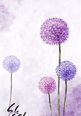蒲公英花朵素材PSD分层素材