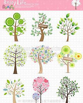 樹木插畫圖片