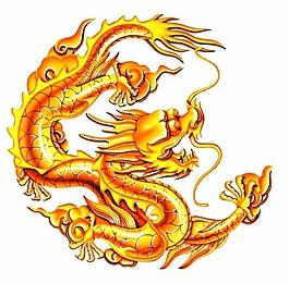 金色的中國龍
