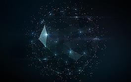 抽象數字藝術星空背景圖