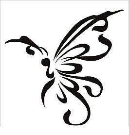 蝴蝶花紋矢量素材