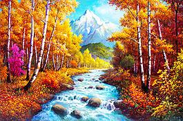 山水風景畫