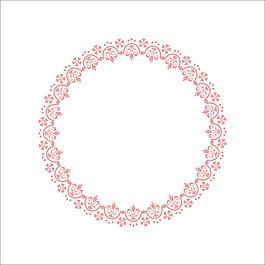 圓形花朵花邊