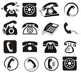 打電話和電話來電圖標設計矢量素材