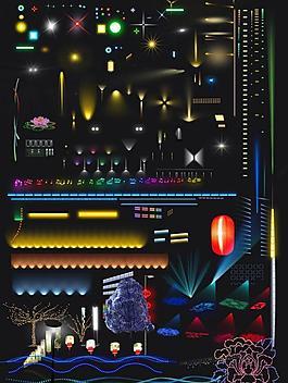 夜景燈光素材圖片