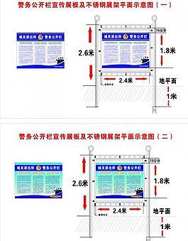 警局展板及展架平面效果图图片