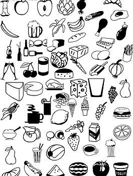 食物剪影圖片