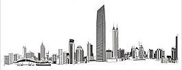 深圳城市建筑剪影圖片