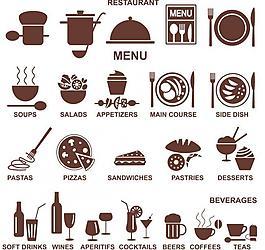 餐廳菜單剪影圖片