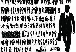 商务团队 商务会议 商务人物剪影图片