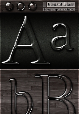 透明質感水滴效果字體