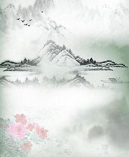 水墨山水畫圖片