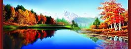 山水風景畫圖片