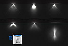 精致射灯光线psd分层素材