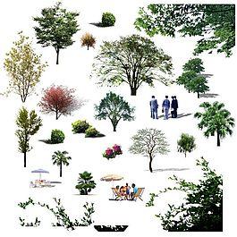 树人psd分层素材/环境设计分层素材