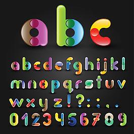 彩色英文字母創意設計