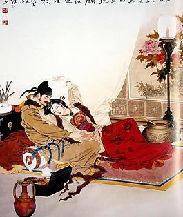 唐玄宗與楊貴妃圖片