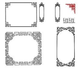 中國風古典花紋邊框