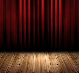 紅色舞臺高清背景素材
