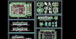 一层平屋顶厂房车间建筑设计图