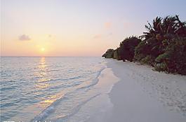 夕陽大海圖片