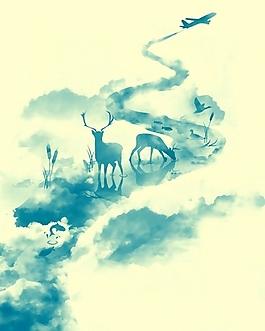 位图 插画 手绘 水彩 效果 免费素材