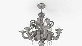 Chandelier VENEZIANI 歐式吊燈 吊燈 黑色吊燈