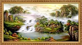 山水油畫風景