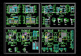 三層別墅CAD圖紙